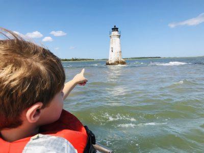 Tybee Island Cockspur Island Lighthouse, Tybee Island Tours, Tybee Island Dolphin Tours