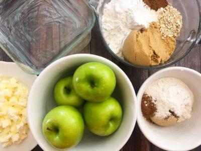 Baked Apple Crisp, Easy Apple Crisp Recipe, Baked Apple Crisp With Oatmeal