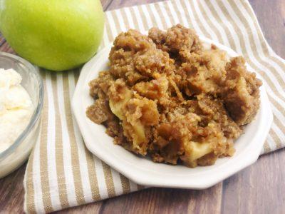 Easy Baked Apple Crisp, Baked Fall Dessert, Granny Smith Apple Dessert