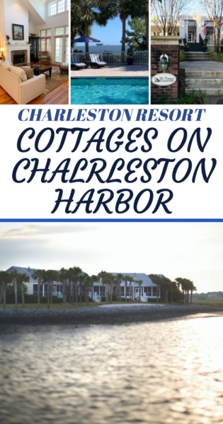 Find luxury on the harbor with this beautiful Charleston SC resort! The Cottages on Charleston Harbor is great for families, girl's getaways or game weekends. #Charleston #CharlestonHarbor #FamilyTravel #Travel