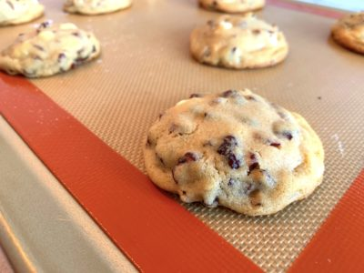 Cranberry White Chocolate Chip Cookies, Easy Cranberry Cookies, Holiday Baking, Christmas Cookies