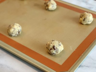 Cranberry White Chocolate Chip Cookies, Easy Christmas Baking Recipe, Holiday Baking, Christmas Cookie Recipe