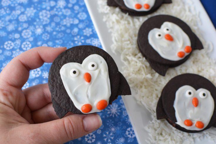 Easy Penguin Cookie, No Bake Christmas Treats, No Bake Christmas Dessert