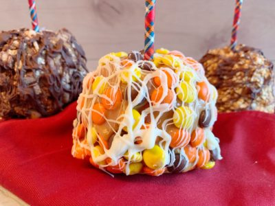 Candy Coated Caramel Apples, Homemade Caramel Apples, Caramel Apples Dipped in Candy