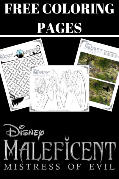 Print your FREE Maleficent Coloring Pages & Activity Sheets! #MaleficentII #DisneyMaleficent2 #Maleficent2 #ColoringPages