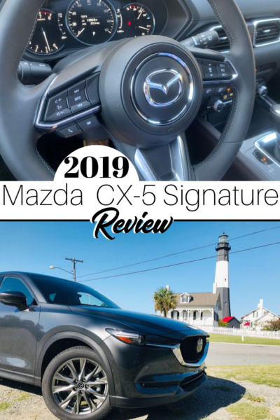 Review of the 2019 Mazda CX-5 Signature: see what's new and upgraded from the older models. #Mazda #SUVReview #CarReview