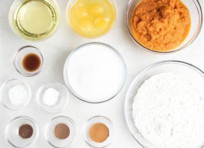 Pumpkin cake dry ingredients