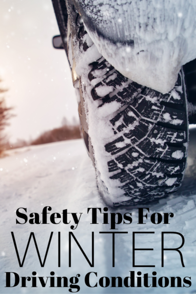 The best winter driving tips to help you be prepared before getting on the road and in case of emergency. #WinterDriving #SafetyTips #DrivingTips #WinterSafety