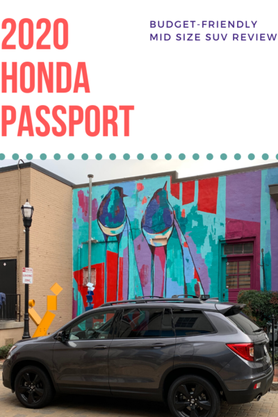 Complete review of the 2020 Honda Passport mid-size SUV, written by a Mom. See why it's an awesome budget-friendly family vehicle. #Honda #SUVReview #CarReview #HondaPassport