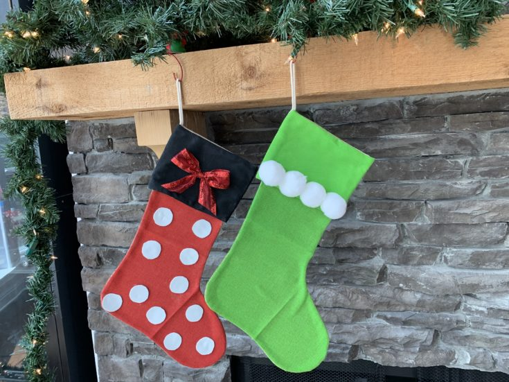 DIY Disney Christmas Stockings Craft: Tinkerbell Design