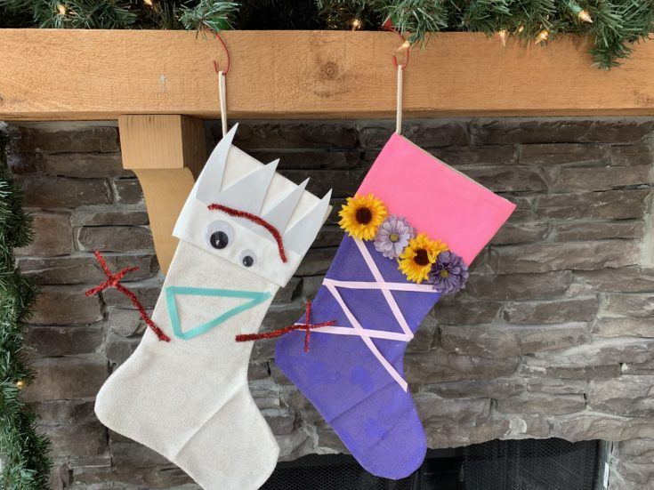 DIY Disney Christmas Stockings Craft: Forky Design