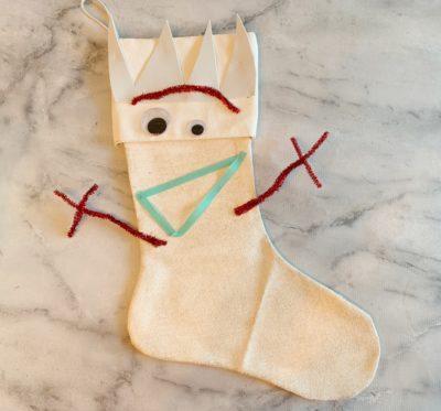 DIY Disney Stocking, Forky Christmas Stocking, Easy DIY Forky Stocking, Toy Story 4 Christmas Stocking