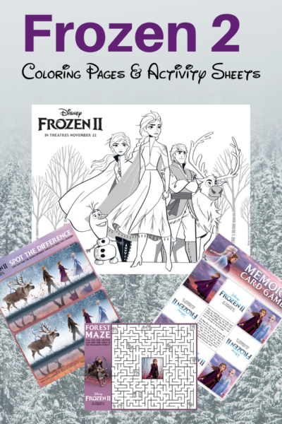 Frozen 2 Coloring Pages Amp Activity Sheets Free Printable