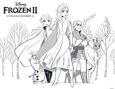 Frozen 2 Coloring Page, Frozen 2, Frozen 2 Activity Sheet