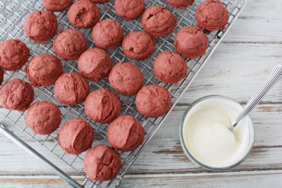 Baked Red Velvet Cookies, Baked Cookies, Fresh Cookies, Cake Mix Cookies