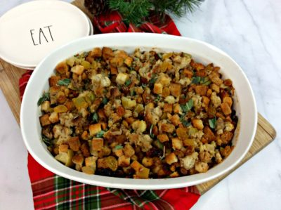 Apple Sausage Stuffing, Easy Thanksgiving Stuffing, Apple Sausage Stuffing Recipe, Apple Sausage Thanksgiving Dressing, Thanksgiving Side Dish Recipe