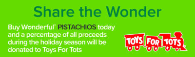 Wonderful Pistachios collaborates with Toys For Tots for holiday 2019 donations