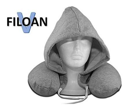 Filoan V Neck Pillow with Hoodie