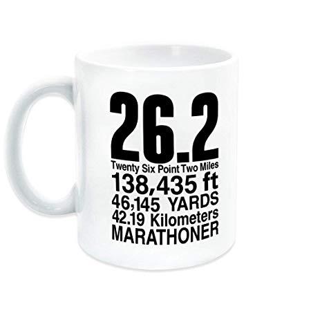 Marathon 26.2 Math Miles Ceramic Mug