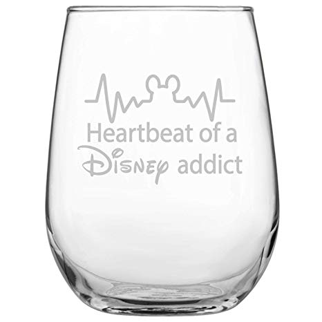 Funny Disney-Inspired Stemless Wine Glass