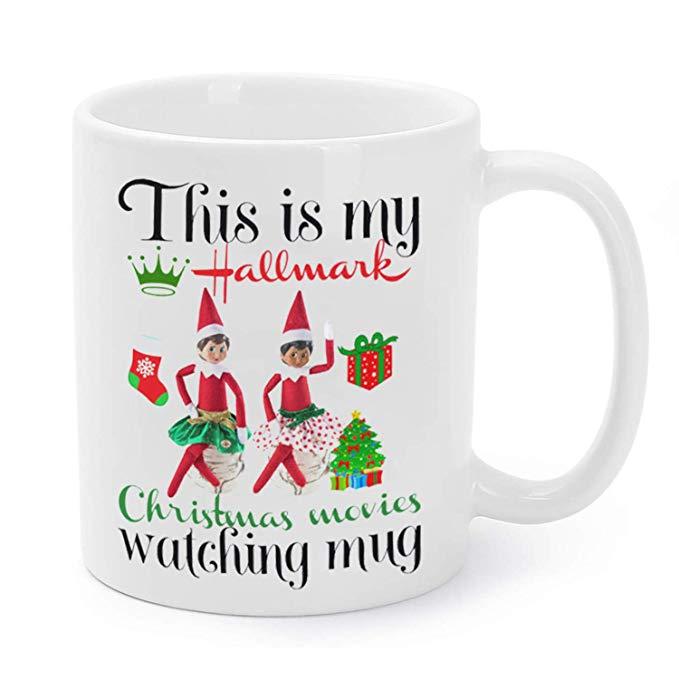 12oz Christmas Coffee Mug For Hallmark Movie Watching