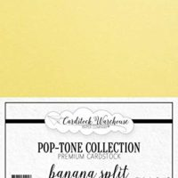 Banana Split Yellow Cardstock Paper - 8.5 x 11 inch 100 lb. Heavyweight Cover -25 Sheets from Cardstock Warehouse
