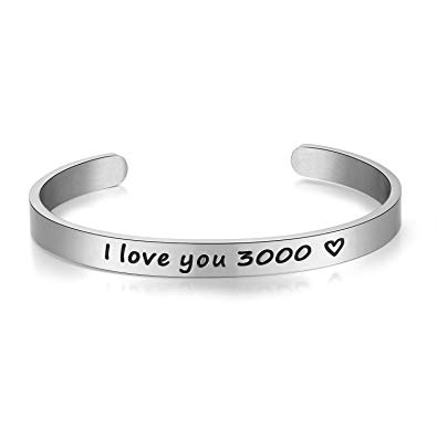 I Love You 3000 Inspirational Cuff Bangle
