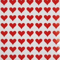 "Royal Green Heart Label Red Sticker for envelopes 1/2"" (0.5 inch) 13mm - 1050 Pack - Gift Packaging,"