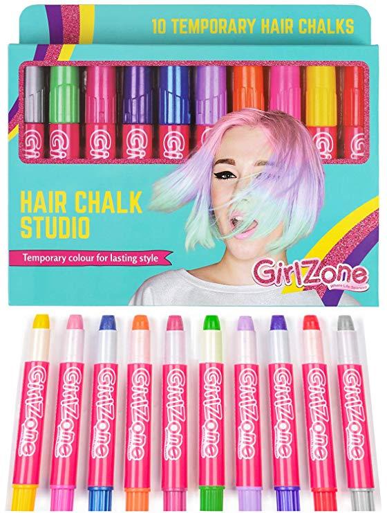 GirlZone: Hair Chalk Set For Girls