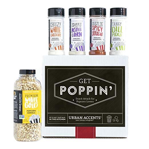Urban Accents GET POPPIN', Gourmet Popcorn Seasoning Gift Set