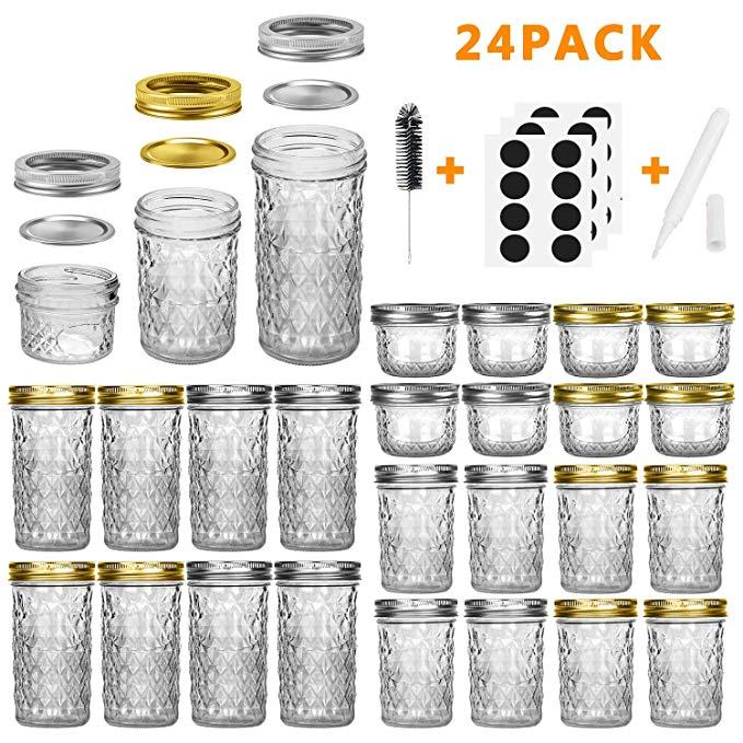 Mason Jars Canning Jars, 24 Pack