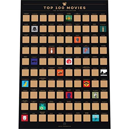 Enno Vatti 100 Movies Scratch Off PosterT