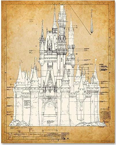 Cinderella's Castle - 11x14 Unframed Blueprint