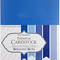"Darice Core'dinations Value Pack Cardstock (50 Pack), 8.5 by 11"", Brilliant Blue"