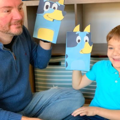 DIY Disney Junior Bluey Craft Puppets (VIDEO TUTORIAL)