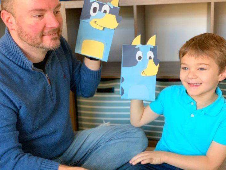 Disney Junior Bluey Craft, Disney Junior Craft, Disney Junior Kids Craft, Bluey, Bluey TV Show