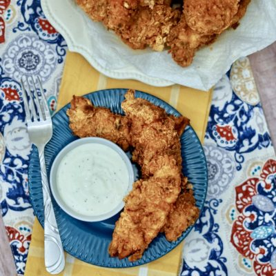 3-Step Fried Buttermilk Chicken Tenders Recipe (Perfect For Game Day)
