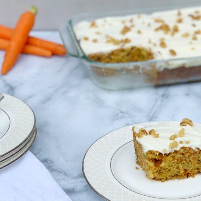 One Bowl Carrot Sheet Cake With Cream Cheese Frosting