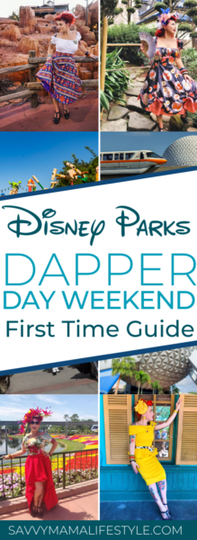 Everything you need to know about Dapper Day Weekend at Disney Parks. Including information on Disneyland and Disney World. #DapperDay #DisneyStyle #DisneyParks #WaltDisneyWorld #DisneyTips #Disneyplanning #DisneyPlanningTips