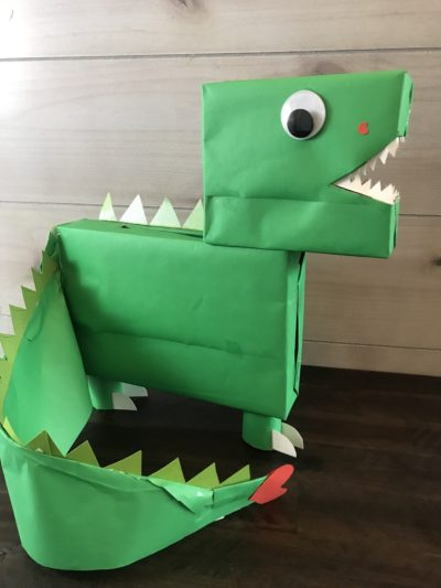 Dinosaur, Dinosaur Tail, Dinosaur Tail Craft, Dinosaur Kids Craft