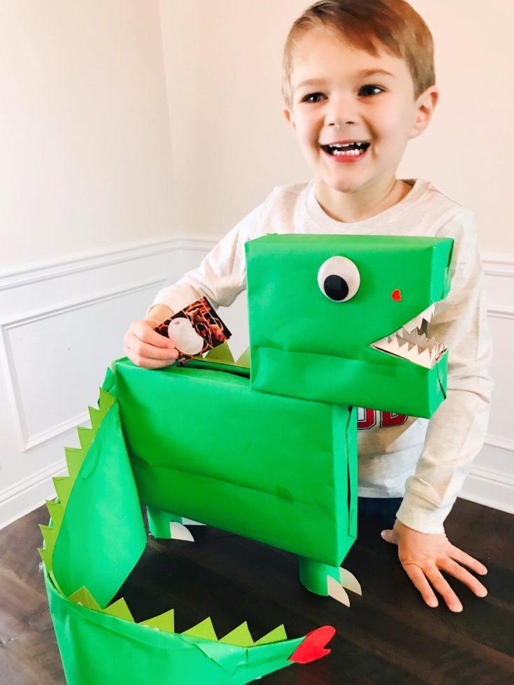 Easy DIY Dinosaur Valentines Box (Dino Valentine Box)