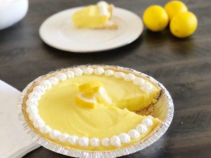 4-Ingredient Frozen Lemon Pie Recipe That's Sweet & Tart