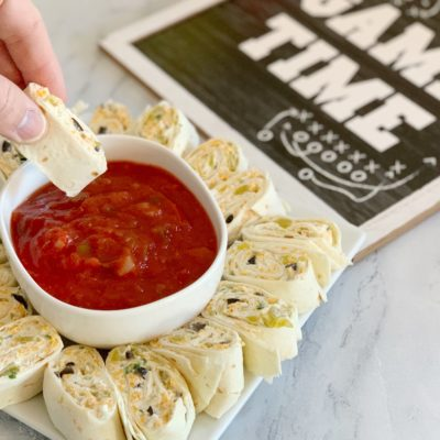 Game Day Appetizer Recipe: Green Chili Tortilla Roll Ups