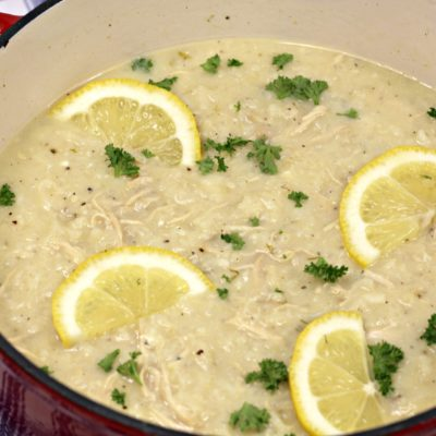 Creamy Greek Lemon Soup Recipe With Rice & Chicken