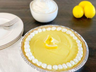 Lemon Pie, Frozen Lemon PIe, Frozen Lemonade Pie
