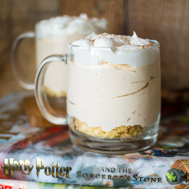 Harry Potter Inspired No Bake Butterbeer Cheesecake