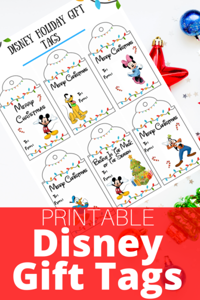 Print your FREE Disney Gift Tags for the holiday season! Just download, save and print. #Disney #Printable #GiftTags #ChristmasWrapping #GiftWrapping #GiftTags #PrintableGiftTags