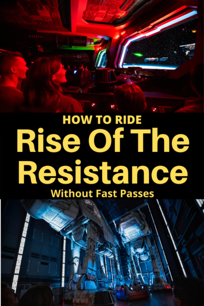 How to ride Rise of The Resistance at Disney World without Fast Passes and make the most of your Hollywood Studios day. #DisneyWorld #HollywoodStudios #DisneyWorldTips #WaltDisneyWorld