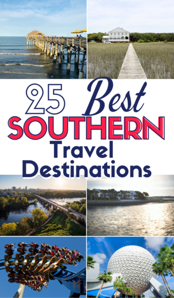 Add these 25 best southern cities to visit to your family travel bucket list! They're the hottest cities to visit in the new year. #FamilyTravel #USTravel #SoloTravel #BudgetTravel #USTravel