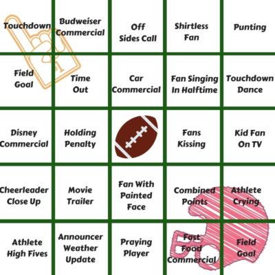SuperBowl Bingo, Football Bingo Cards, Game Day Bingo Cards